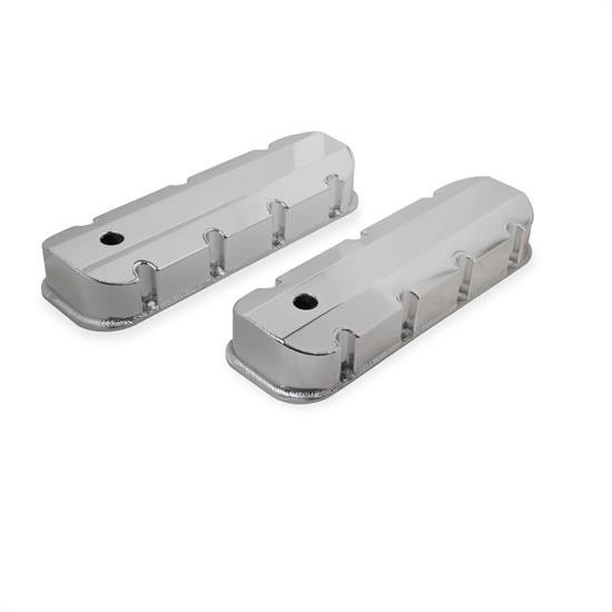 Holley Sniper 890004 Fabricated valve Covers w/Baffle, 65-00 SBC