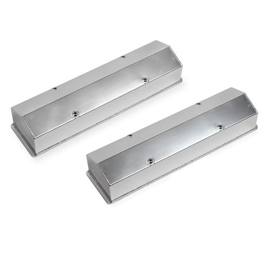 Sniper 890008 Fabricated aluminum valve Covers w/Baffle, 1958-86 SBC