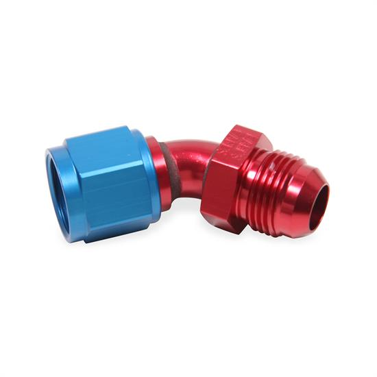 Earls 920412ERL 45 Degree -12 AN Male to -12 AN Female Swivel