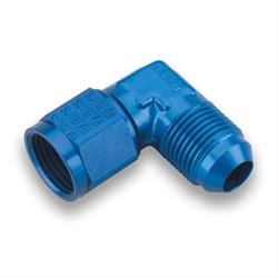 Earls 921108ERL Blue 90 Degree -8 AN Male to -8 AN Female Swivel