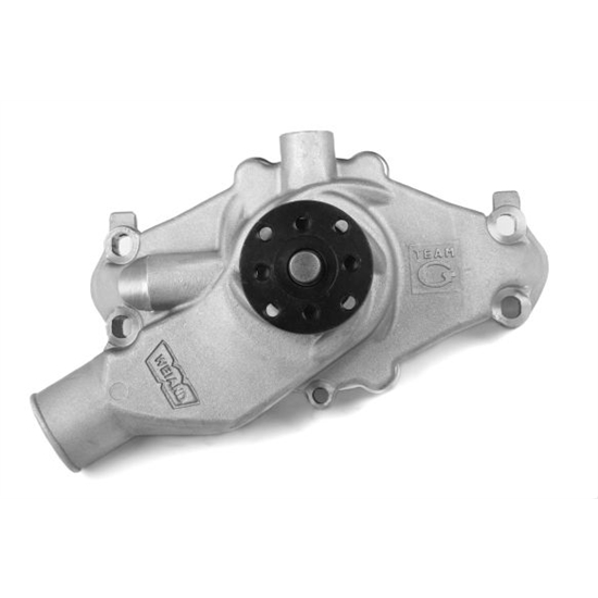 Weiand 9222 Team G Aluminum Water Pump w/Twisted Snout Design