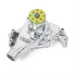 Weiand 9240P Action +Plus Aluminum SBC Long Water Pump,  Polished