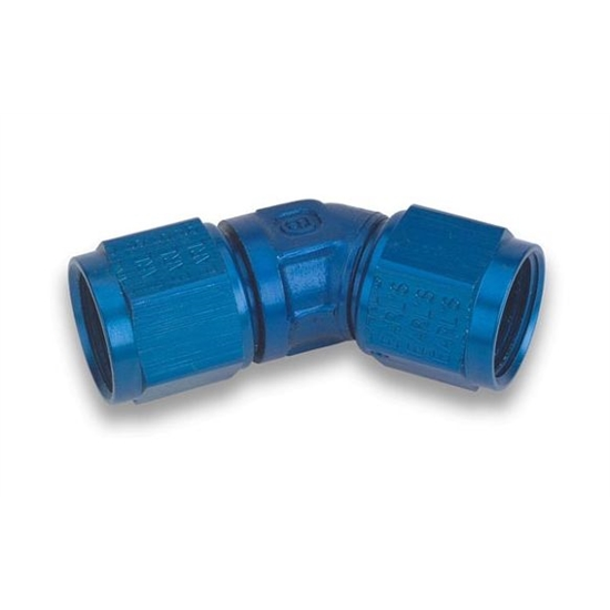 Earls 939112ERL Blue 45 Degree Low Profile -12 AN Fem to Fem Swivel