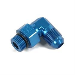 Earls 949086ERL Blue 90 Degree -8 AN Male to 9/16-18 Inch Swivel