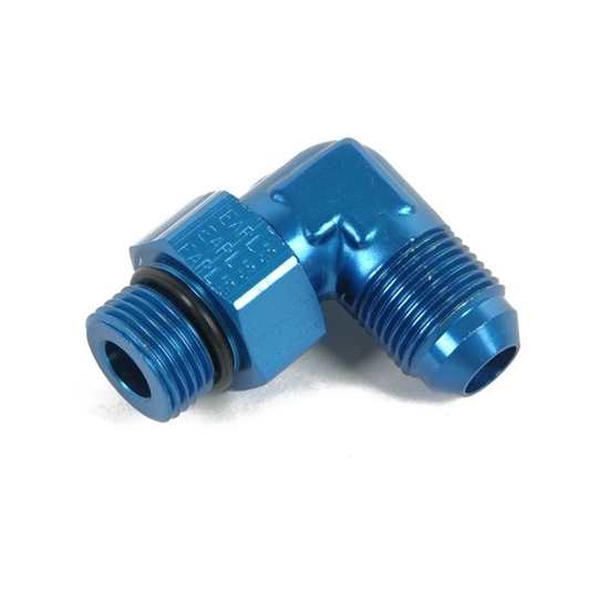 Earls 949093ERL Blue 90 Degree -6 AN Male to 7/8-20 Inch Swivel