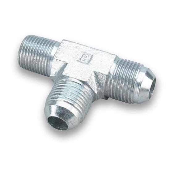 Earls 962603ERL -3 AN Male to 1/8 Inch NPT on Run Tee Adapter, Zinc
