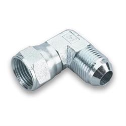 Earls 966303ERL 90 Degree -3 AN Male to -3 AN Female Swivel, Zinc