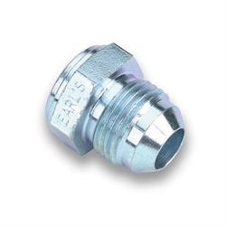Earls 967108ERL -8 AN Male Weld Fitting, Zinc Plated Steel