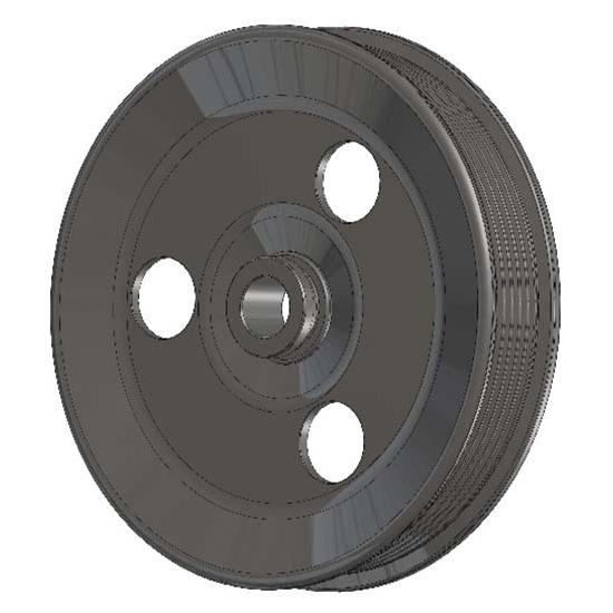 Holley 97-154 Small Power Steering Pump Pulley Uses 25% Underdrive Bal