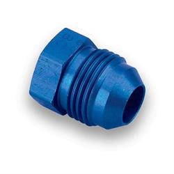 Earls 980612ERL Blue Anodized -12 AN Plug, Lightweight Aluminum