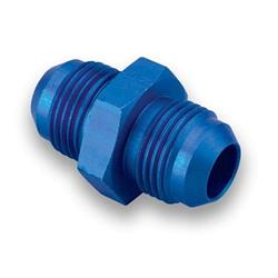 Earls 981504ERL Blue Anodized -4 AN Male Union, Lightweight Aluminum