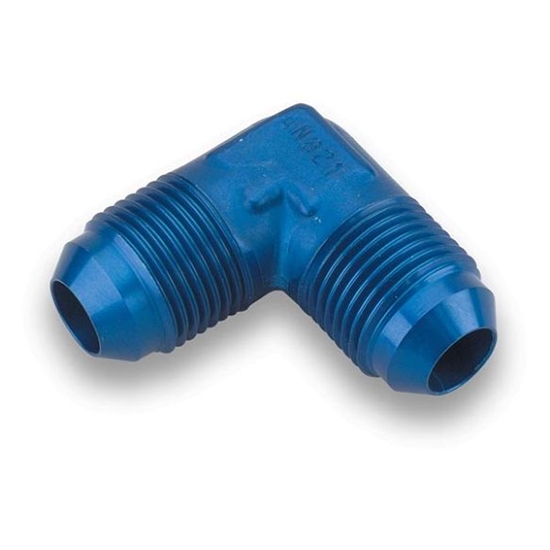Earls 982104ERL Blue Anodied 90 Degree -4 AN Male Elbow, Aluminum