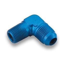 Earls 982288ERL Blue 90 Degree Elbow -8 AN Male to 1/2 Inch NPT