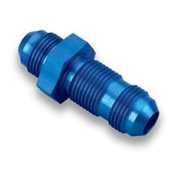 Earls 983208ERL Blue Anodized Straight -8 AN Bulkhead, Aluminum