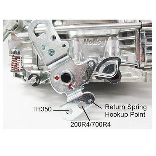 Chrome Throttle Cable Bracket Holley Edelbrock Carter Auto Trans Kickdown TH350