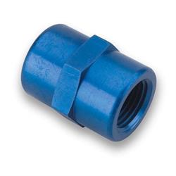 Earls 991002ERL Blue 1/4 Inch NPT to 1/4 Inch NPT Female Coupling