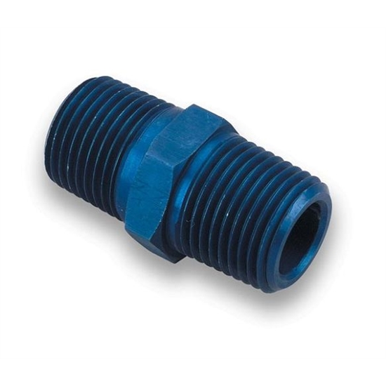 Earls 991102ERL Blue 1/4 Inch NPT to 1/4 Inch NPT Male Coupling
