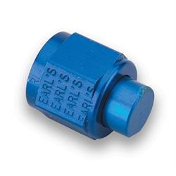 Earls 992920ERL Blue Anodized -20 AN Cap, Lightweight Aluminum