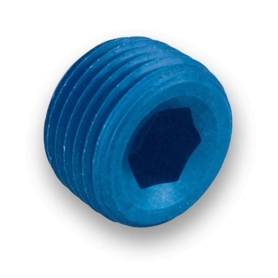 Earls 993205ERL Blue Anodized 1/2 Inch NPT Internal Plug, Aluminum