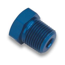 Earls 993306ERL Blue Anodized 3/4 Inch NPT Hex Head Plug, Aluminum