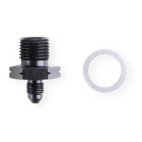 Earls AT9919AFJERL LS Oil Pressure Gauge Adapter Fittings, Black