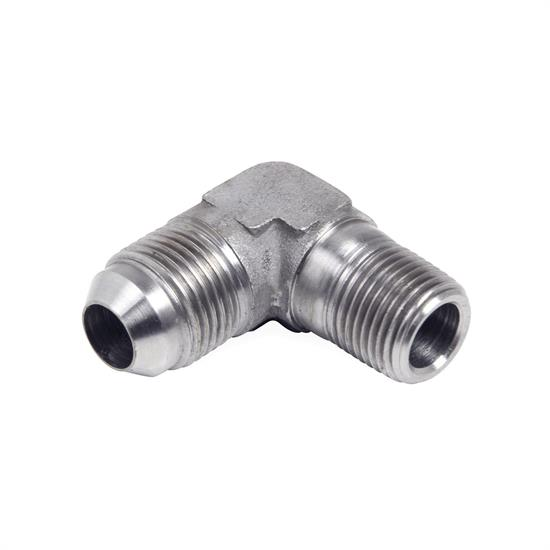 Earls SS982203ERL 90 Degree Elbow, -3 AN Male to 1/8 Inch NPT