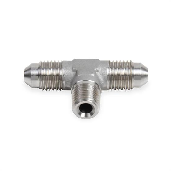 Earls SS982503ERL -3 AN Male Tee to 1/8 Inch NPT on Branch