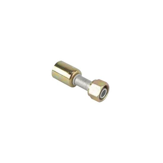 Straight Crimp-On A/C O-Ring Fitting, -6 AN