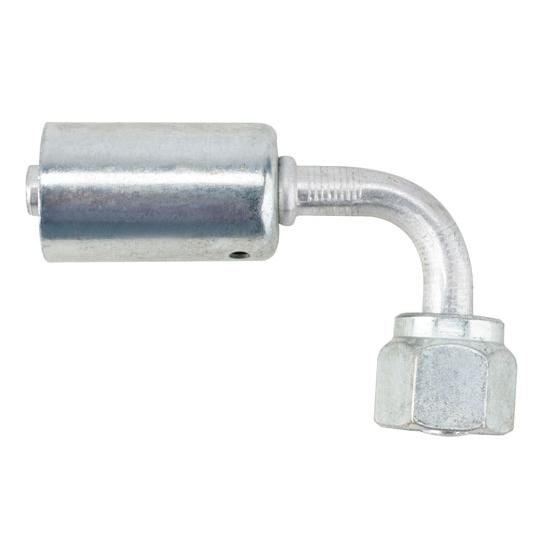 Crimp-On A/C O-Ring Fitting, 90 Degree, -6 AN
