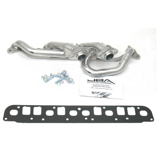 JBA PerFormance Exhaust 1527SJS Shorty Header, SS, 00-06 Wrangler, SC