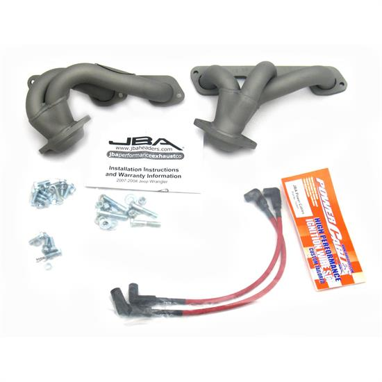 JBA PerFormance Exhaust 1528SJT Shorty Header, SS, 07-11 Jeep 3.8L, TC