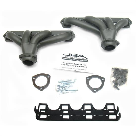 JBA PerFormance Exhaust 1615SJT Shorty Header, SS, SBF 289/302/351, TC