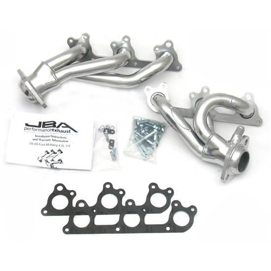 JBA PerFormance Exhaust 1617SJS Shorty Header SS, 05-10 Mustang V6, SC