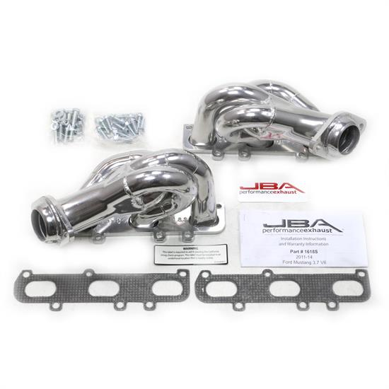 JBA PerFormance Exhaust 1618SJS Shorty Header, SS, 11-14 Mustang 3.7L