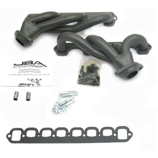 Black Coated Performance Exhaust Header System For 87-95 Ford F150 /& Bronco 5.0L V8 Pickup Truck