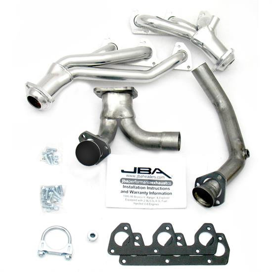 JBA PerFormance Exhaust 1646SJS Shorty Header, 91-93 Ranger 3.0L, SC
