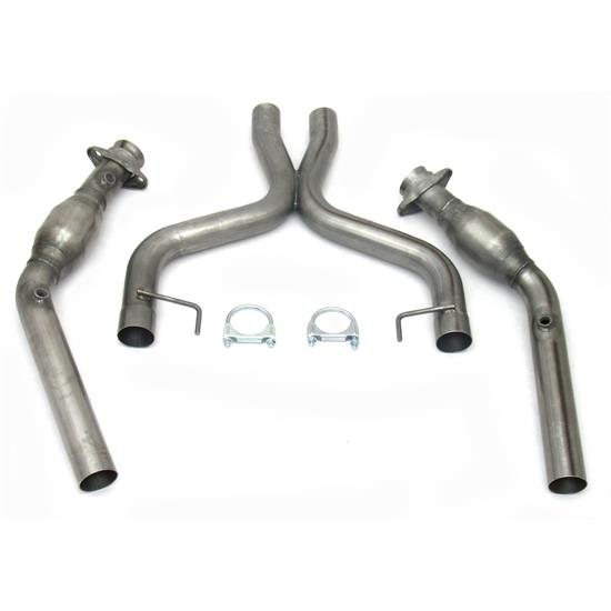 JBA PerFormance Exhaust 1795SXC SS Mid-Pipe 07-10 GT500 X-Pipe w/Cats