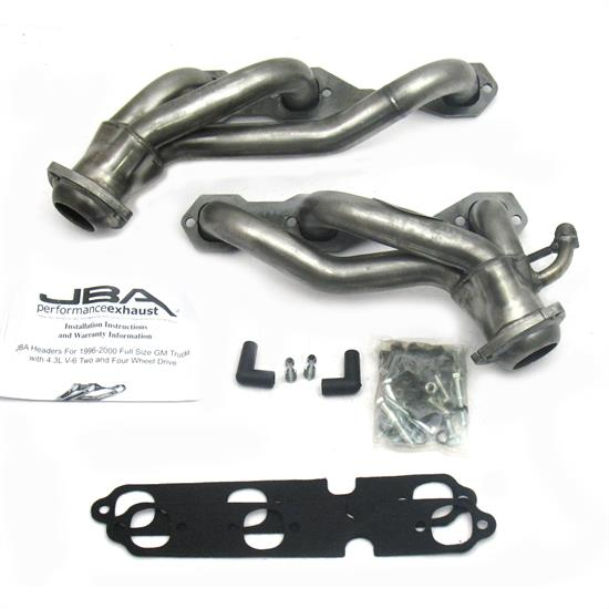 JBA PerFormance Exhaust 1842S Shorty Header SS, 96-99 GM Truck 4.3L