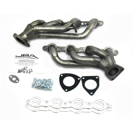 JBA 1850S-1 Shorty Header, SS, 99-02 GM Truck 6 0L