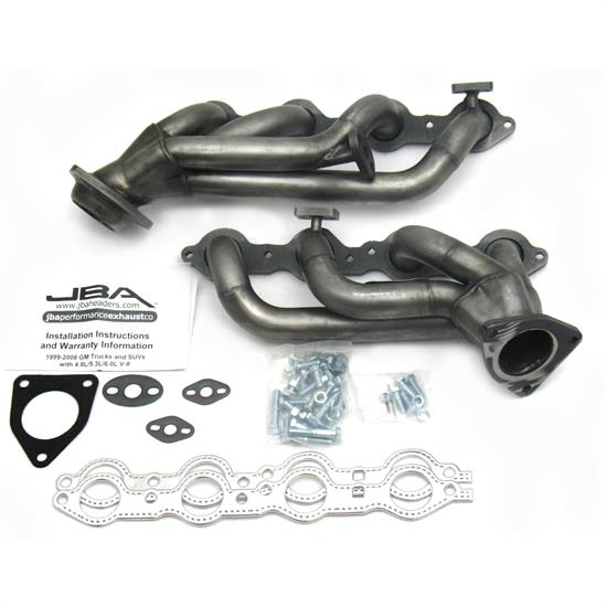 JBA PerFormance Exhaust 1851S Shorty Header, 99-01 GM Truck 4.8/5.3L