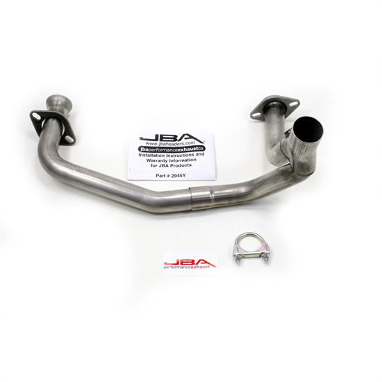 JBA PerFormance Exhaust 2945SY SS Mid-Pipe, 96-99 Dodge, 2.50 Inch