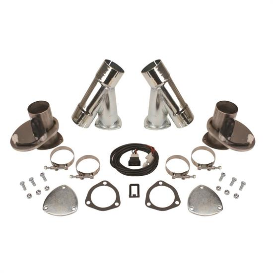 Dougs Headers DEC300AK Stainless Steel 3in Electric Exhaust Cutout Kit