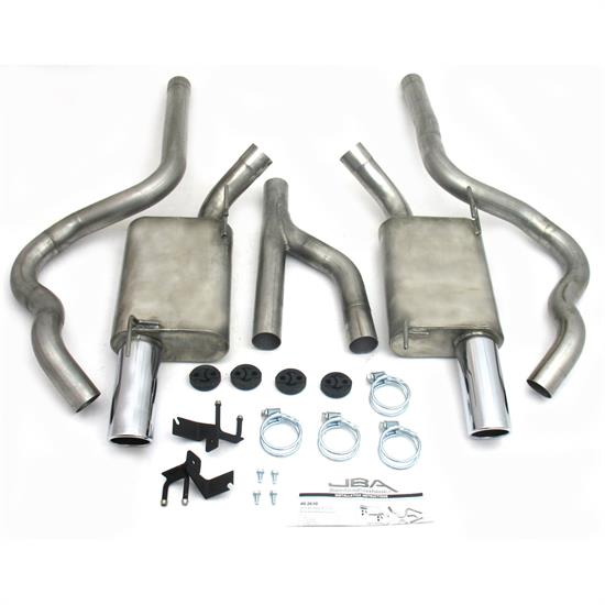 JBA PerFormance Exhaust 40-2630 SS Exhaust System, 05-10 Mustang V6