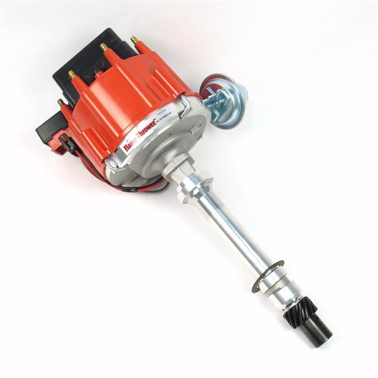 PerTronix D1051 Flame-Thrower Distributor HEI, SBC/BBC, Red