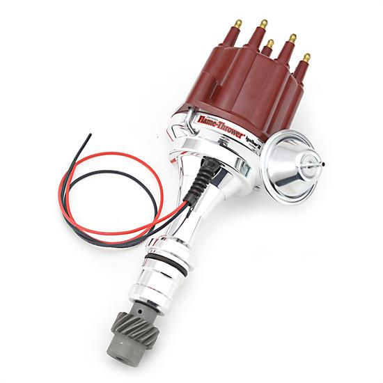 PerTronix D110711 Flame-Thrower Electronic Distributor, Olds V8, Red