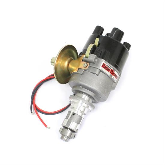 Pertronix D177600 Flame-Thrower Plug and Play Vacuum Advance Cast Electronic Distributor with Ignitor Technology