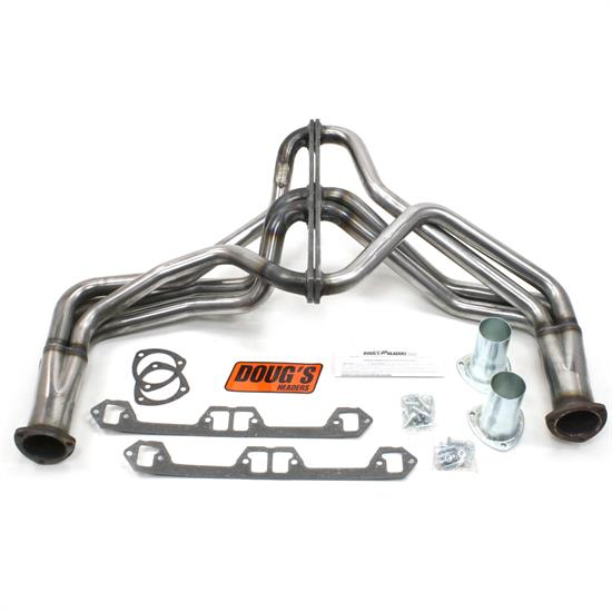 Doug's Headers D190-R Full Length Header, 1-5/8 In, 72-80 Jeep, Raw