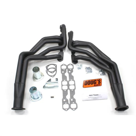 Doug's Headers D317-B Full Length Header 1-3/4 In, 62-67 Chevy II, Blk