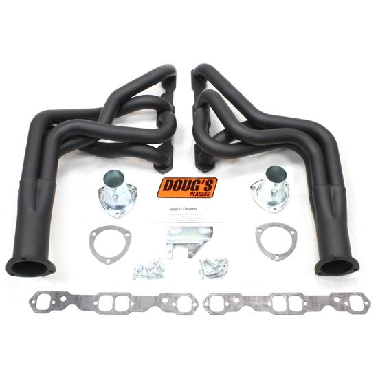 Doug's Headers D323-B Full Length Header, 1-7/8 In, 67-69 Camaro, Blk