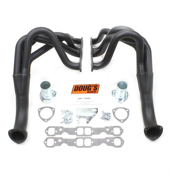 Doug's Headers D329-B Full Length Header, 1-3/4 In,62-67 Chevy II, Blk
